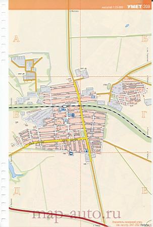 Детальная карта дорог поселка