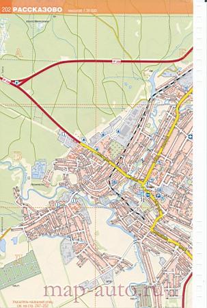 Рассказово карта улиц.