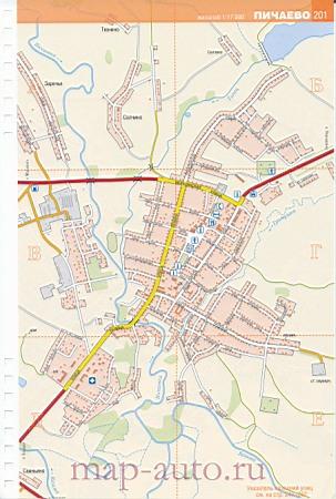 Пичаево карта села.