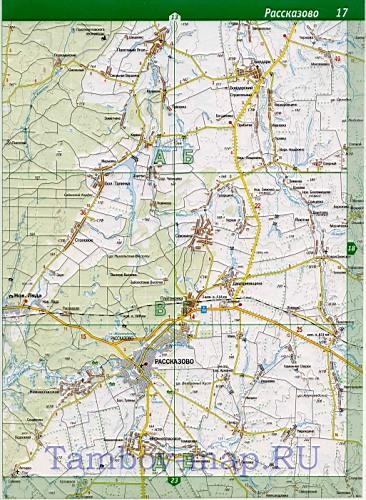 Карта Тамбовского района.