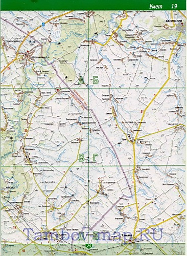 карта Тамбовской области